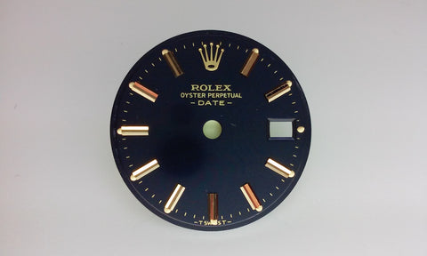 Rolex Ladies Date Blue with Stick Markers for Two-Tone or Gold
