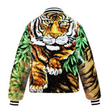 """Tigers of the North"" Blanket Zip Front Puffer"