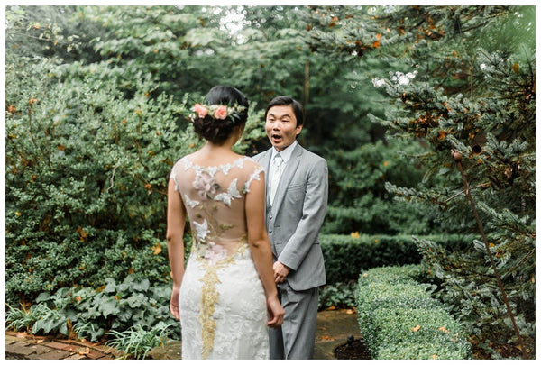 Red Oak Weddings | Mint and Peach Garden Wedding