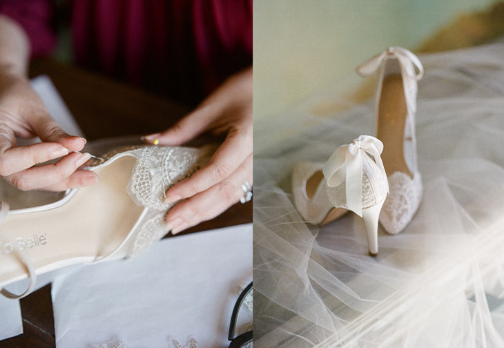 Giselle Lace Wedding Shoe Claire Pettibone