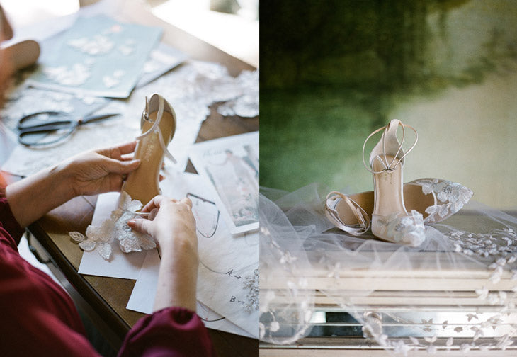 Claire Pettibone Shoe Design Work | Freya Wedding Shoes