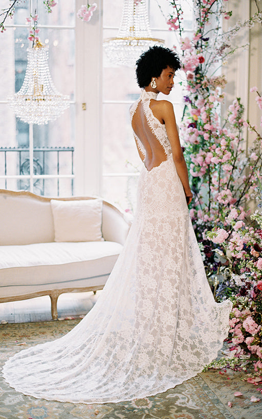 Delphine Wedding Dress Back by Claire Pettibone