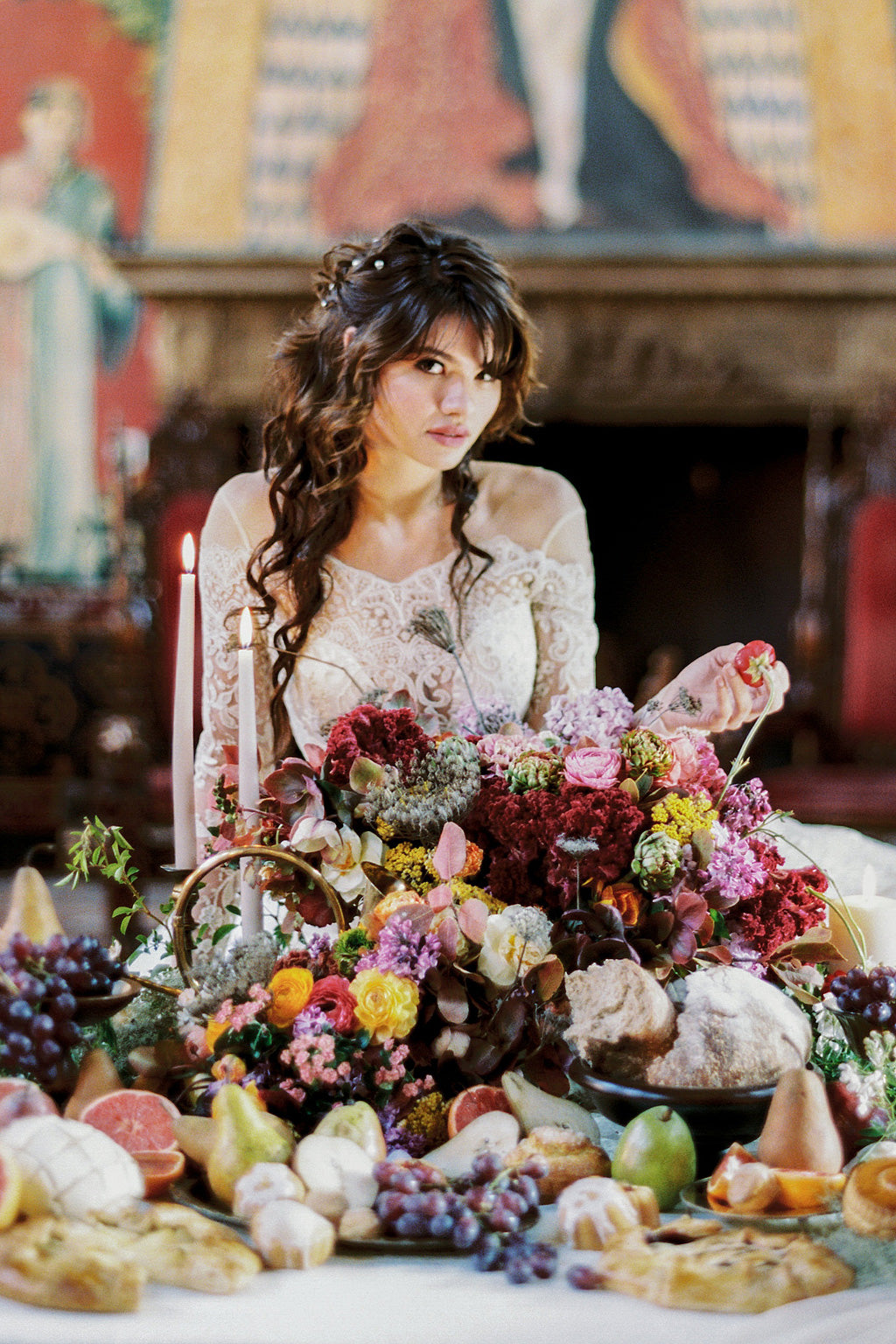 Ponderosa & Thyme Floral Design Voyage Wedding Dress Claire Pettibone
