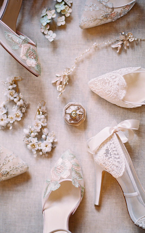 Wedding Shoes and Inspiration Design By Claire Pettibone