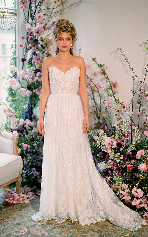 Anais Lace Wedding Dress by Claire Pettibone