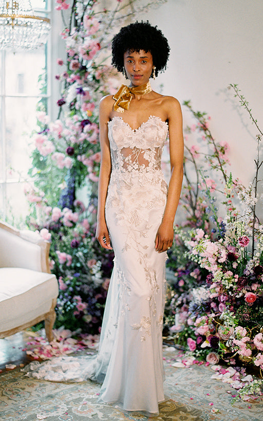 Odessa Lace Wedding Dress with Sexy Bodice