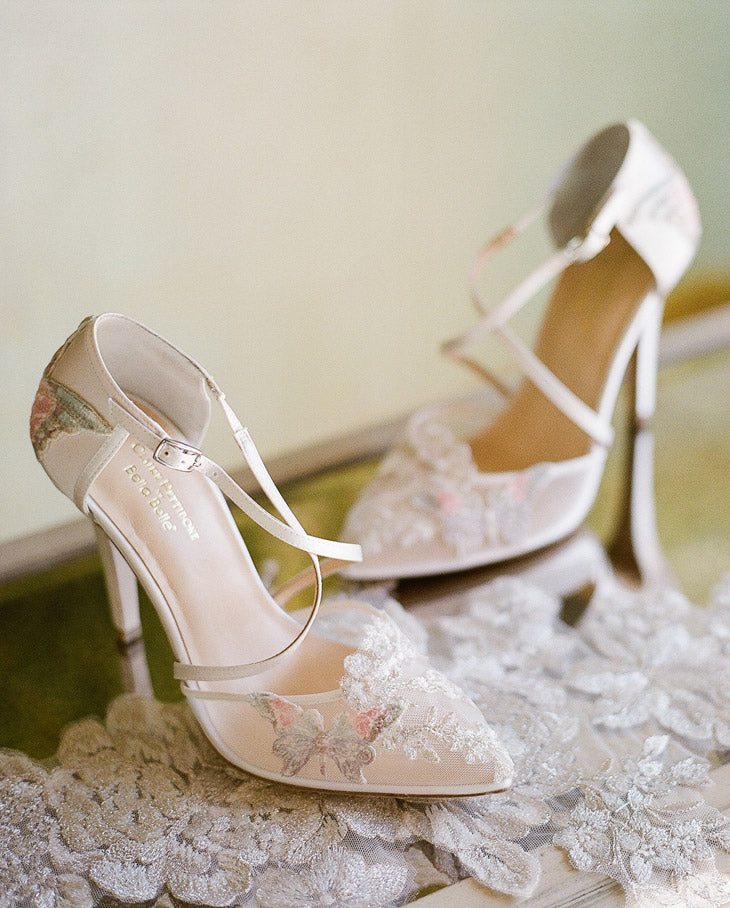 Mariposa Wedding Shoes by Claire Pettibone