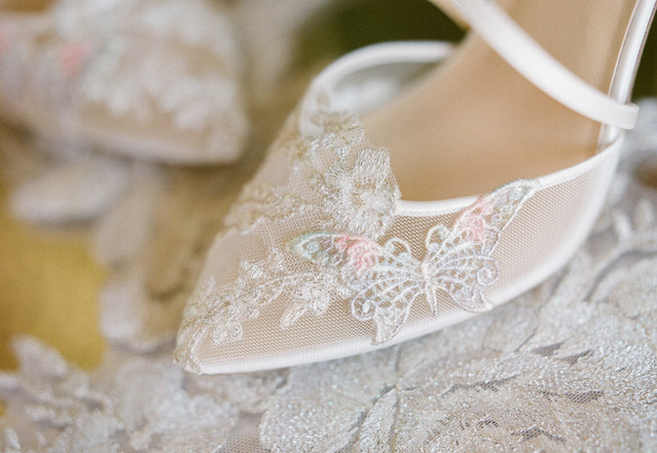 Mariposa Butterfly Detail Wedding Shoes