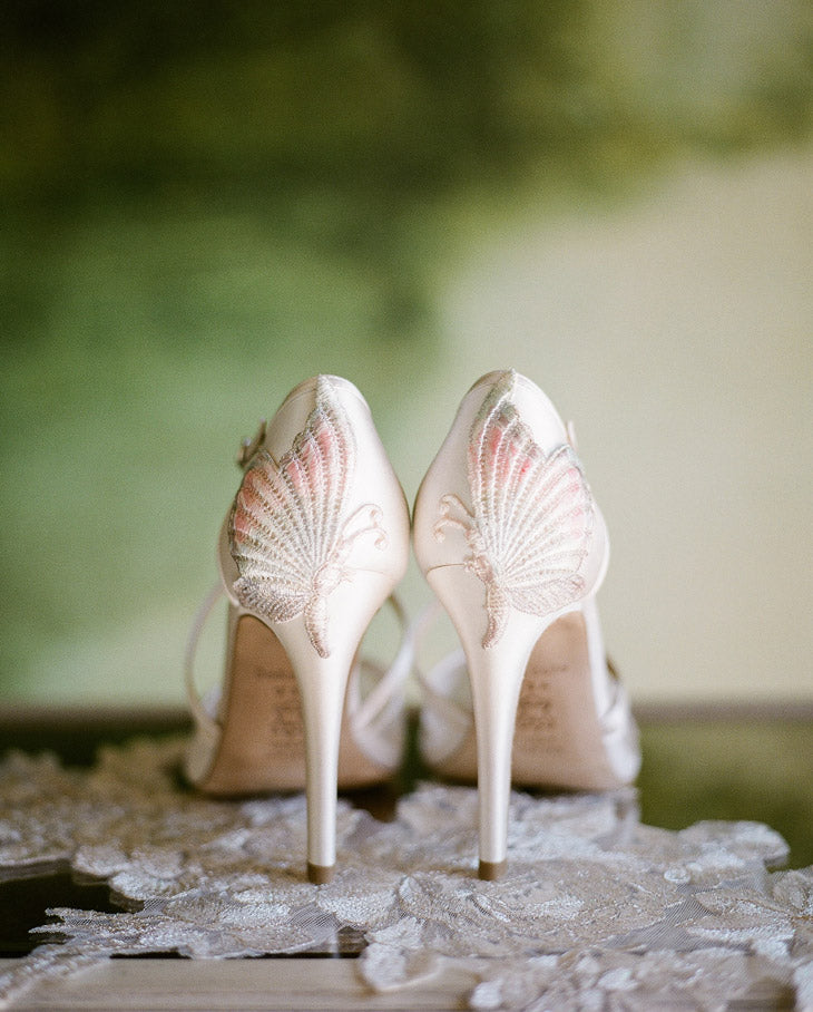 Mariposa butterflies on heels Claire Pettibone wedding shoes