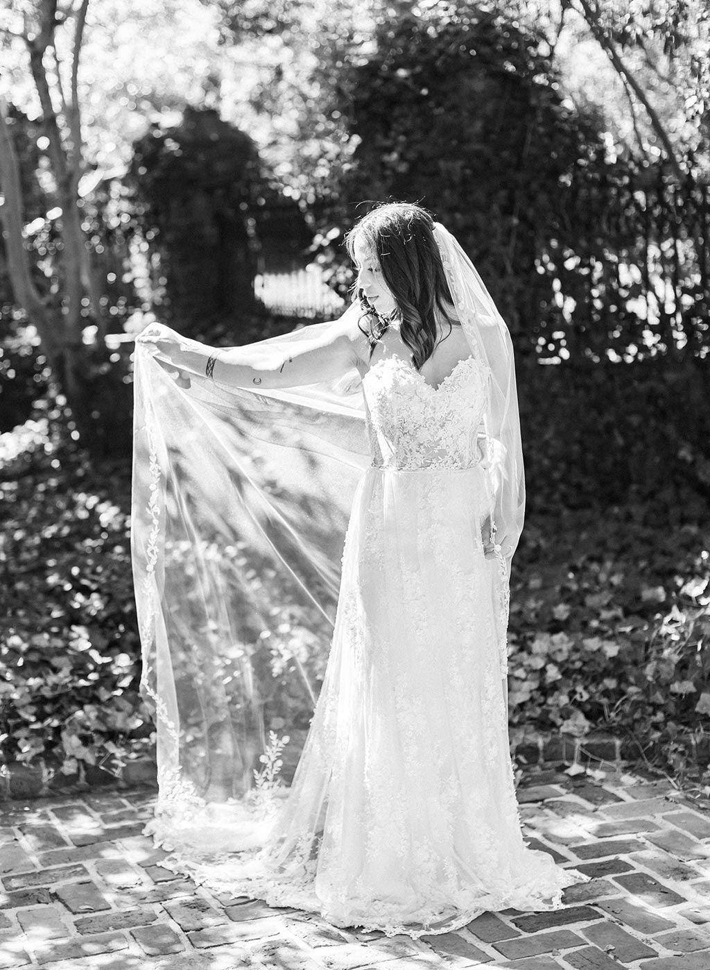 Wedding Dress and Wedding Veil