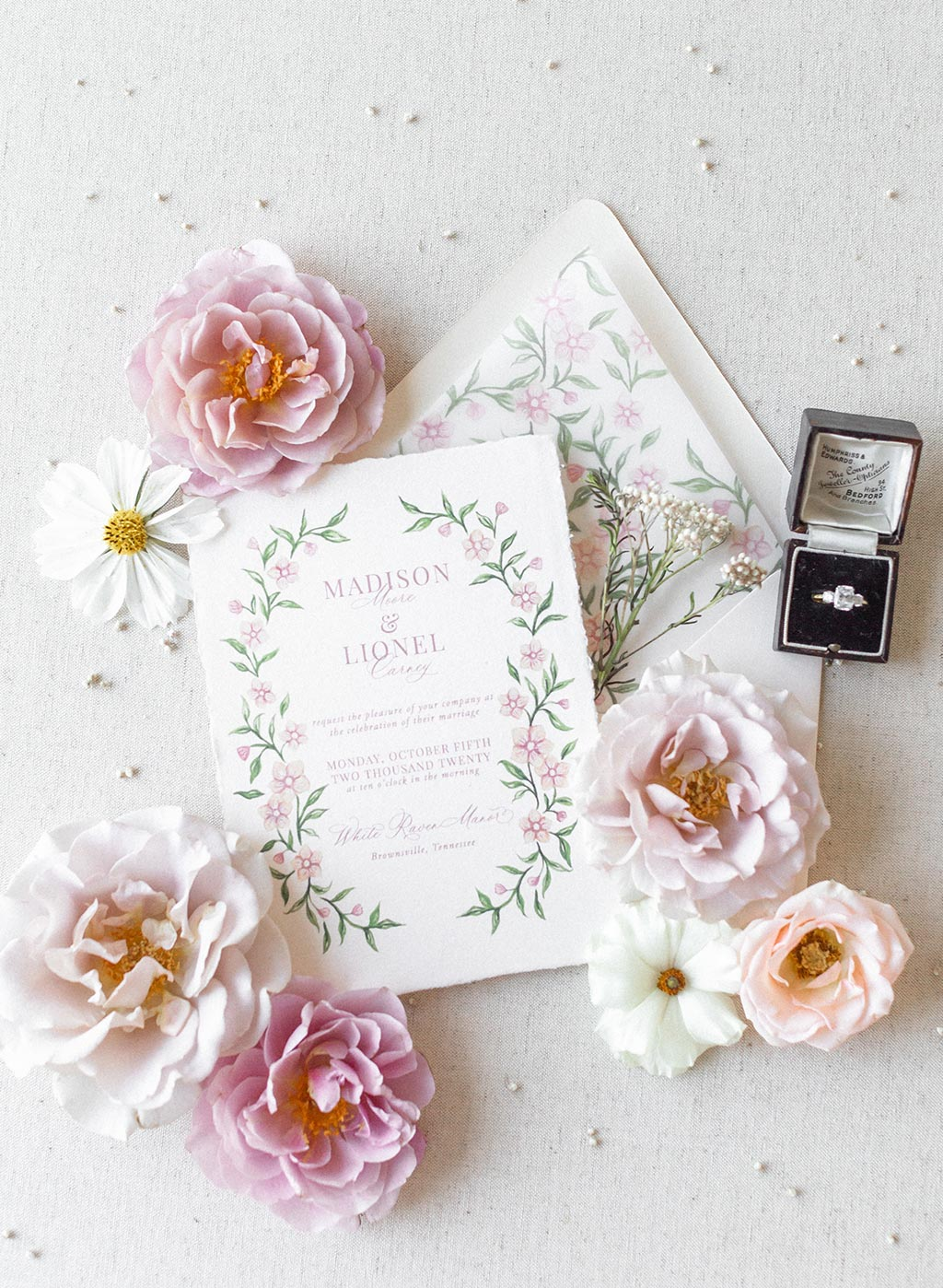Wedding Invitation Flay Lay Inspiration