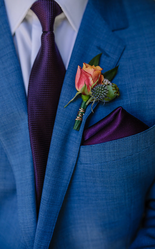 Bride's Groom Suit Detail