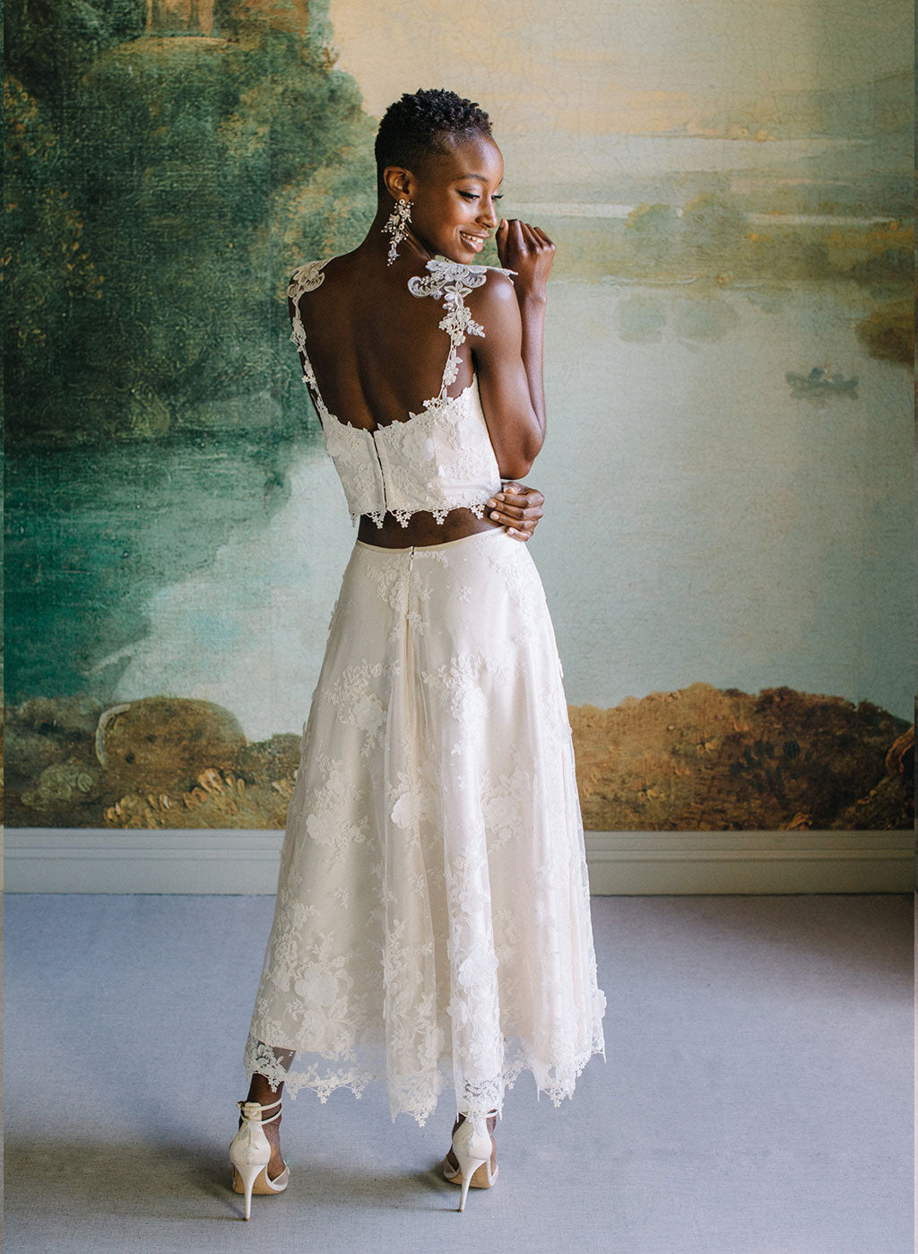 Ready to Wear Magnonlia Lace Top & Skirt