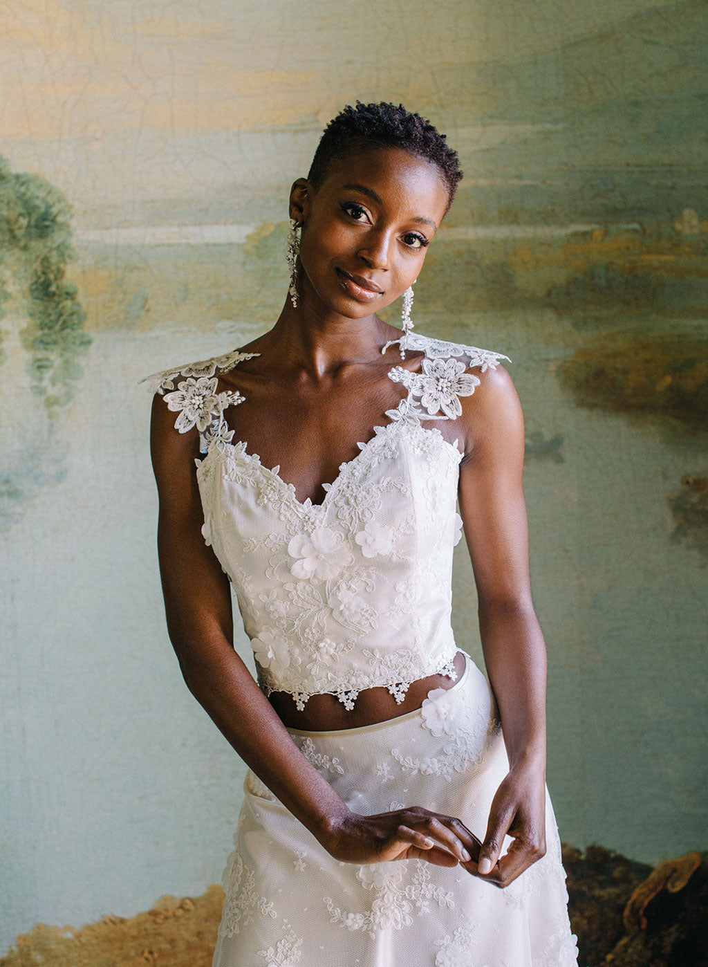 Ready to Wear Magnonlia Lace Corset Top