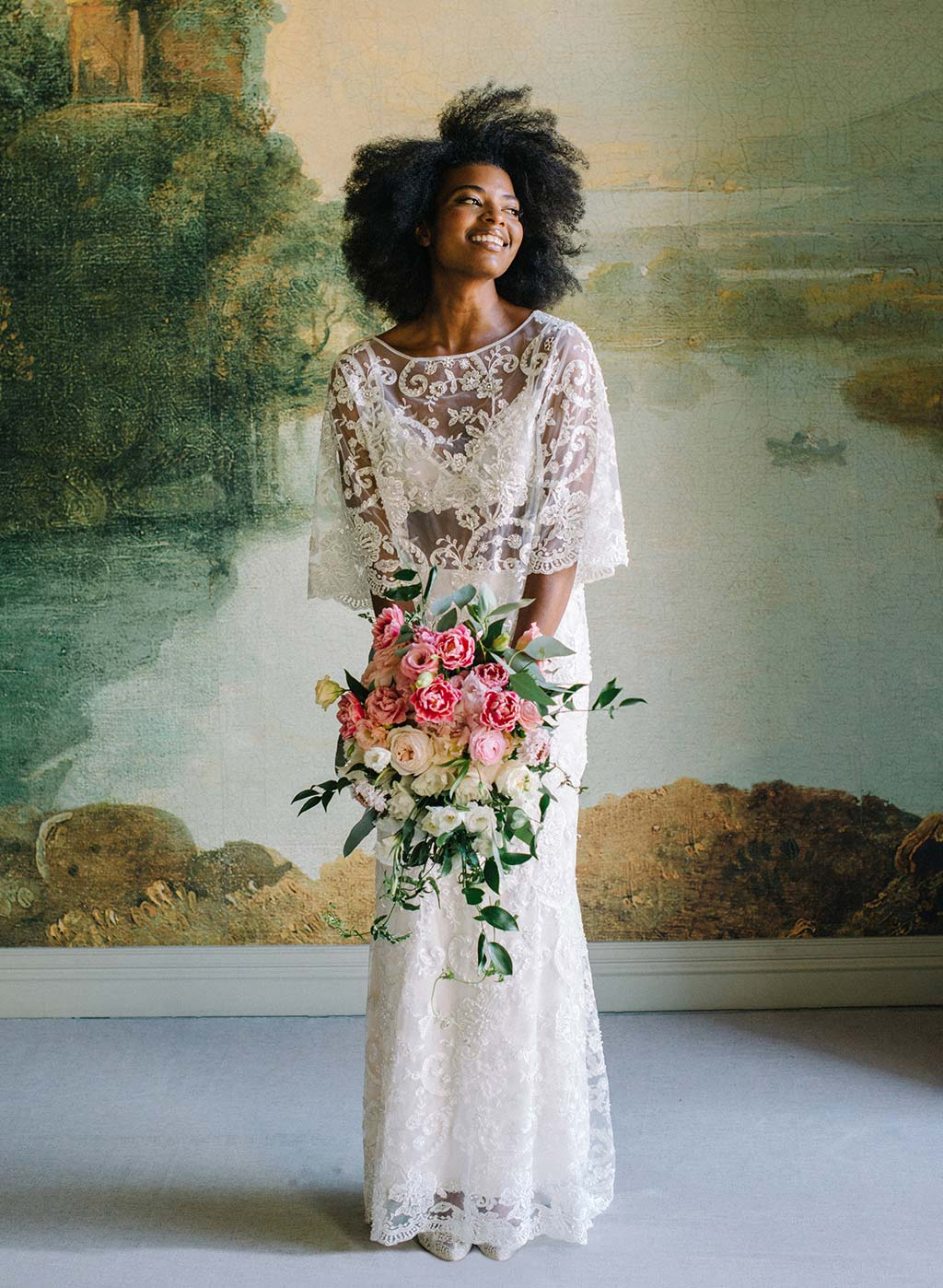 Claire Pettibone Ready to Wear Bridal Seperates Selena Beaded Top and Skirt