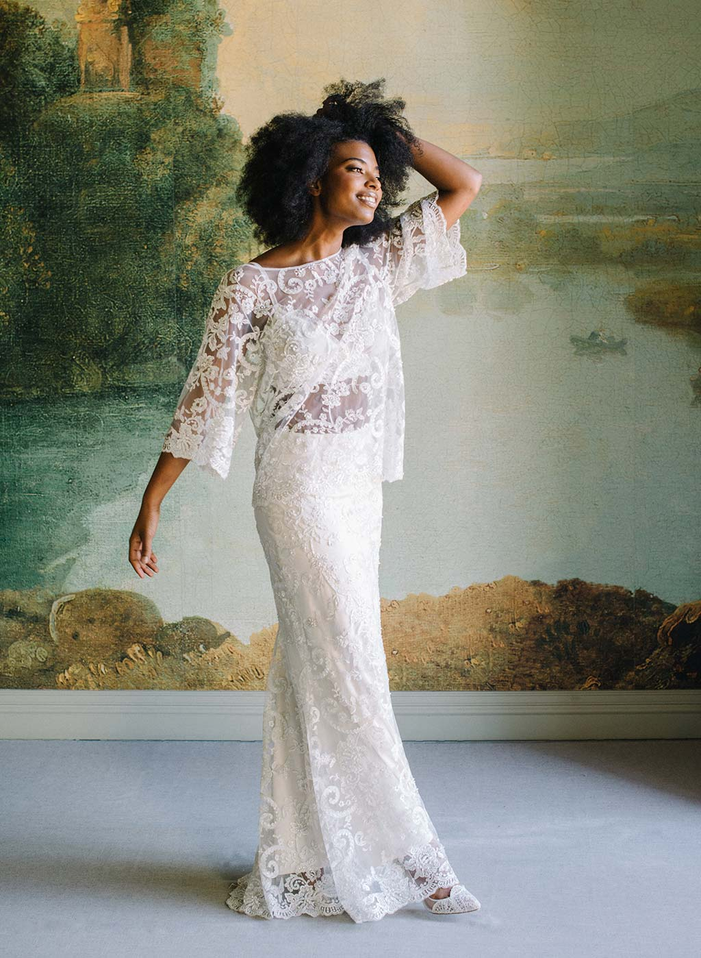 Ready to Wear Bridal Seperates Selena Beaded Top and Skirt