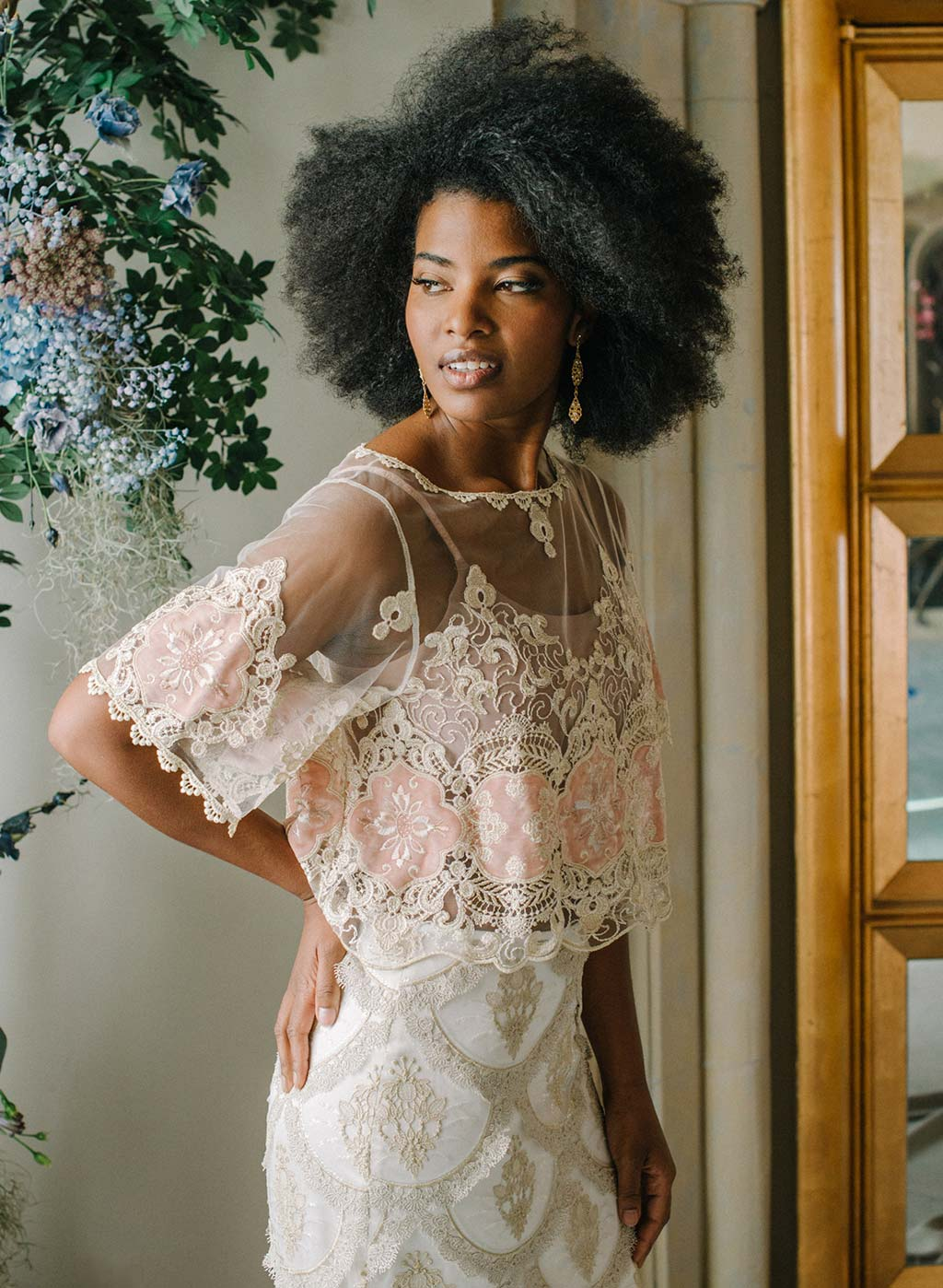 Genevieve Embroidered Top Ready to Wear Bridal Seperates