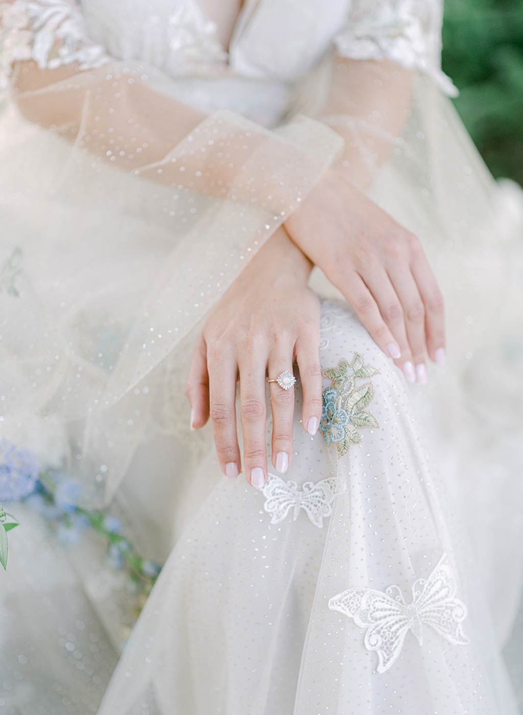 Wedding Ring with Wedding Dress