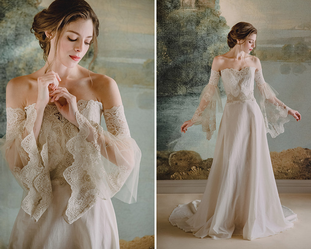 Claire Pettibone Wedding Dress Marie with Sleeves
