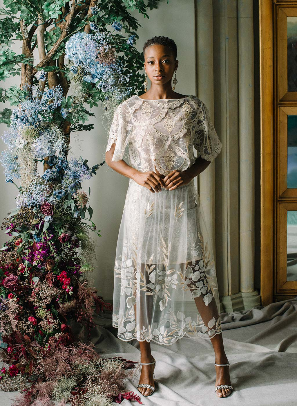 Claire Pettibone Ready to Wed Nocturne Skirt and Helena Top
