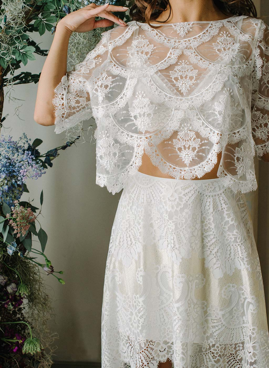 Helena Bridal Ready to Wear Top Ivory Color