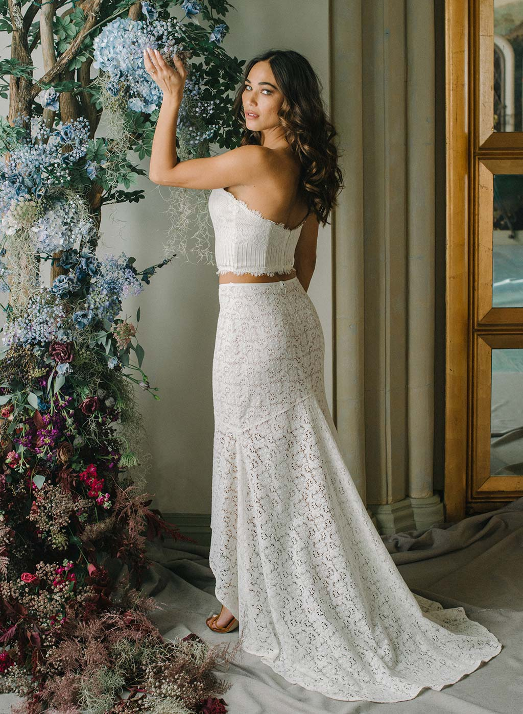 Lola Bridal Ready to Wed Full Lace Skirt with Train