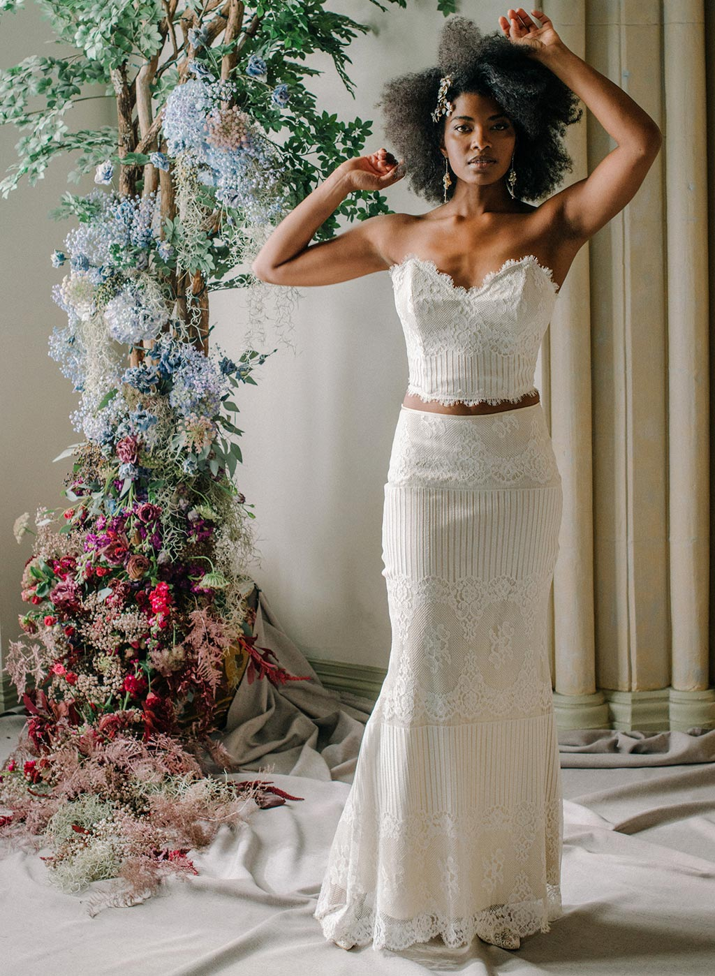 Ready to Wed Long Skirt and Lace Bustier