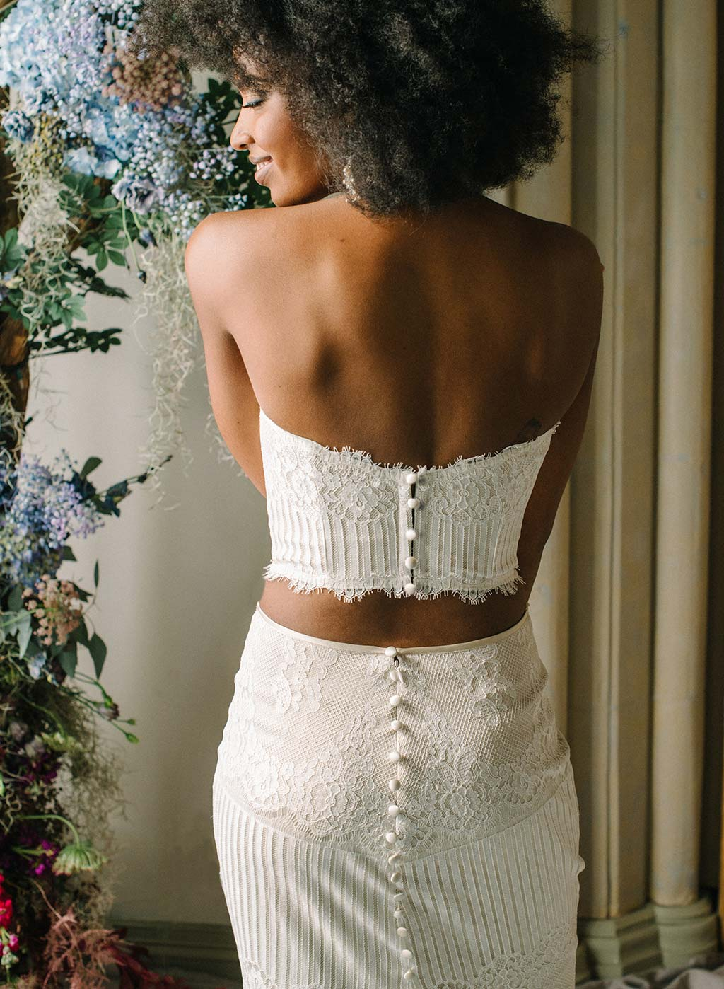 Antoinette Lace Bridal Bustier Separate and Skirt
