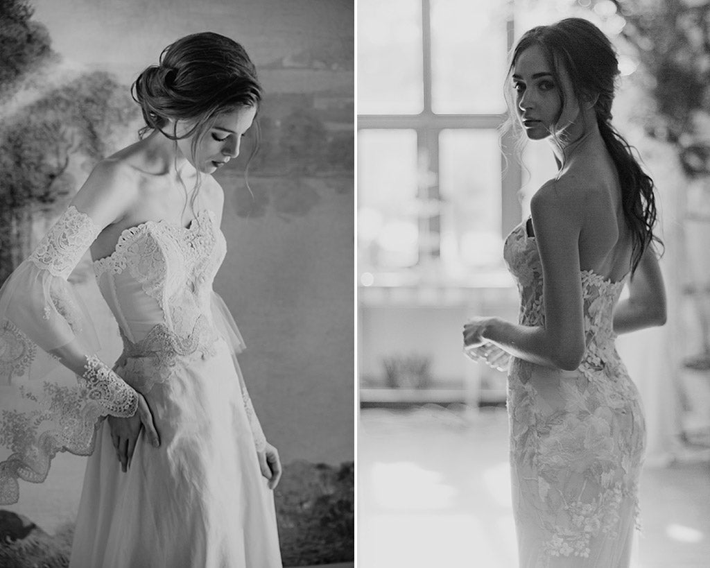 Marie and Odessa Wedding Dresses by Claire Pettibone