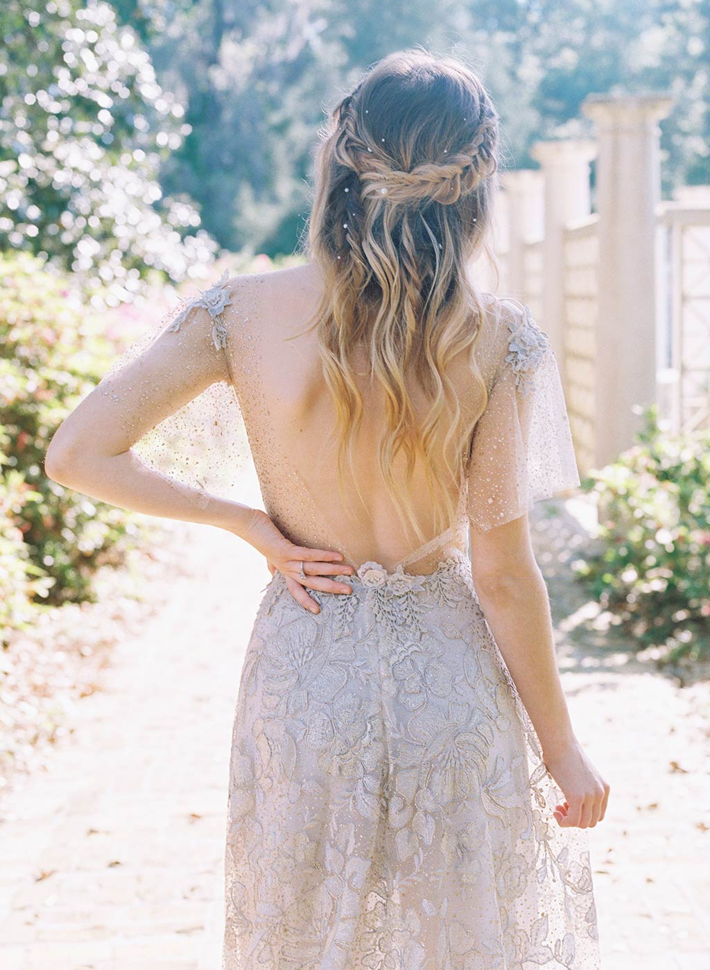 Soleil Wedding Dress Back Detail