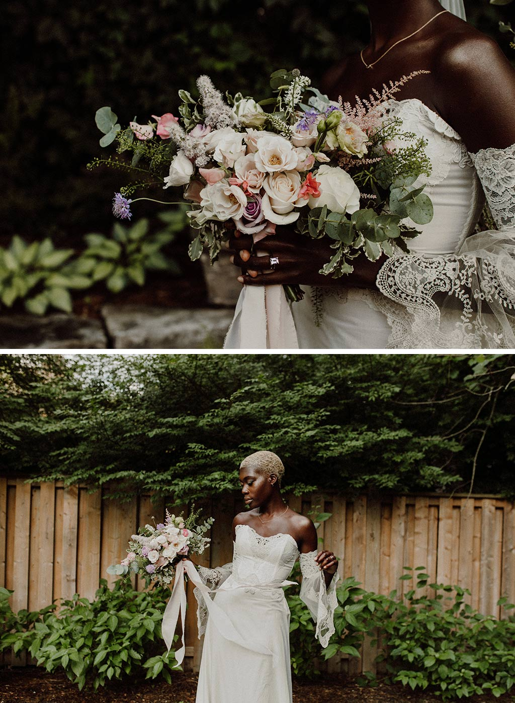 Wedding Bouquet | Model with Bouquet