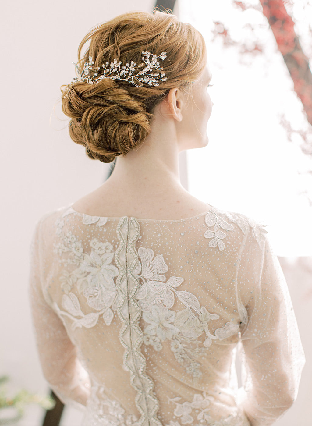 Stardust Wedding Dress Back Detail by Claire Pettibone
