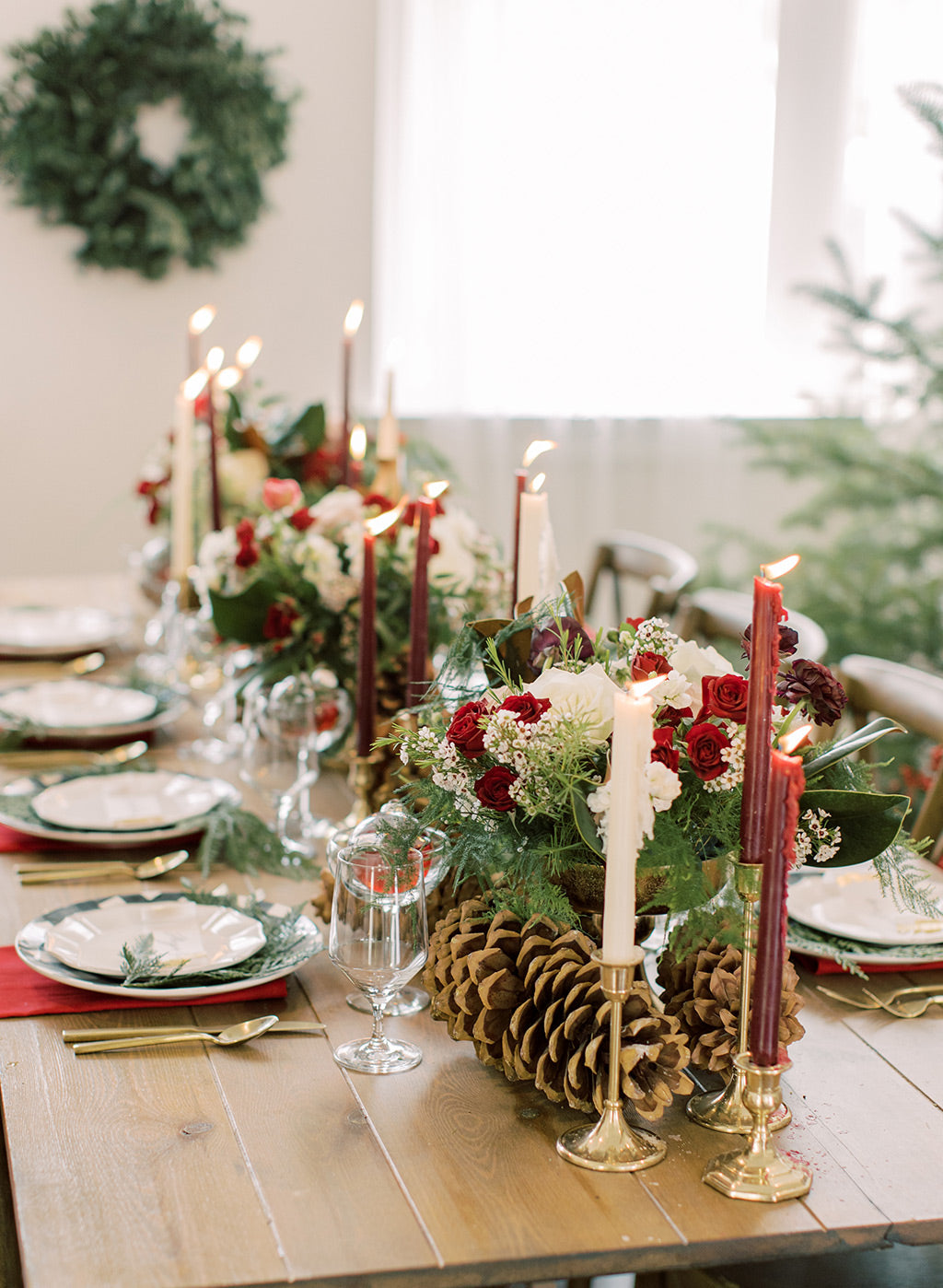 Christmas Wedding Tablescape Inspiration