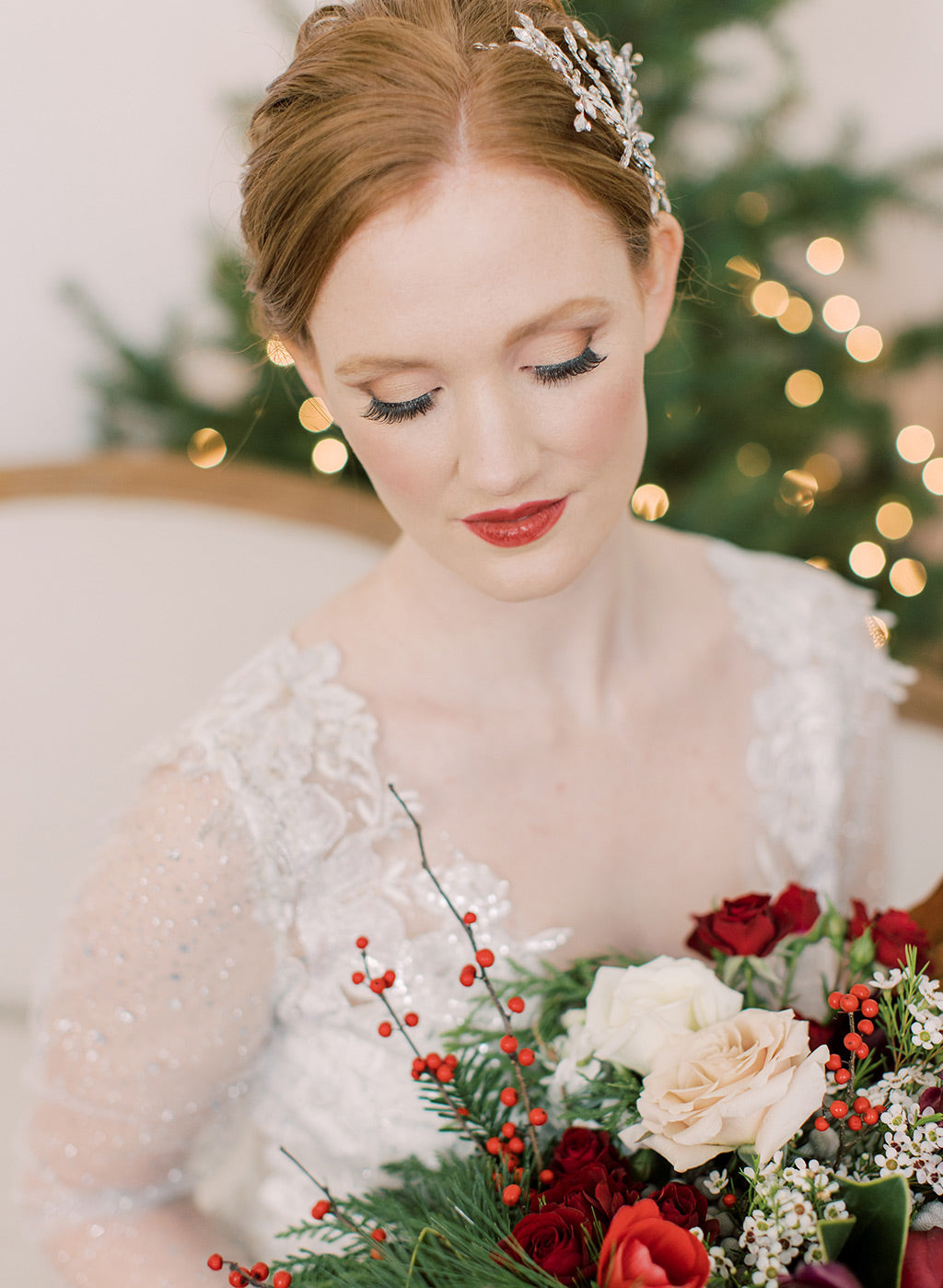Makeup for Christmas Wedding Inspiration