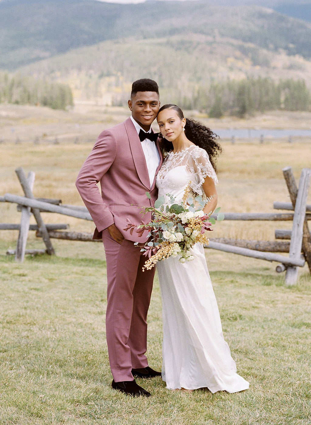Fashion Wedding with Colorful Tuxedo