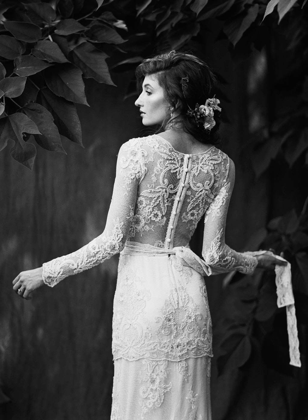 Lace Wedding Dress and Dinner Jacket