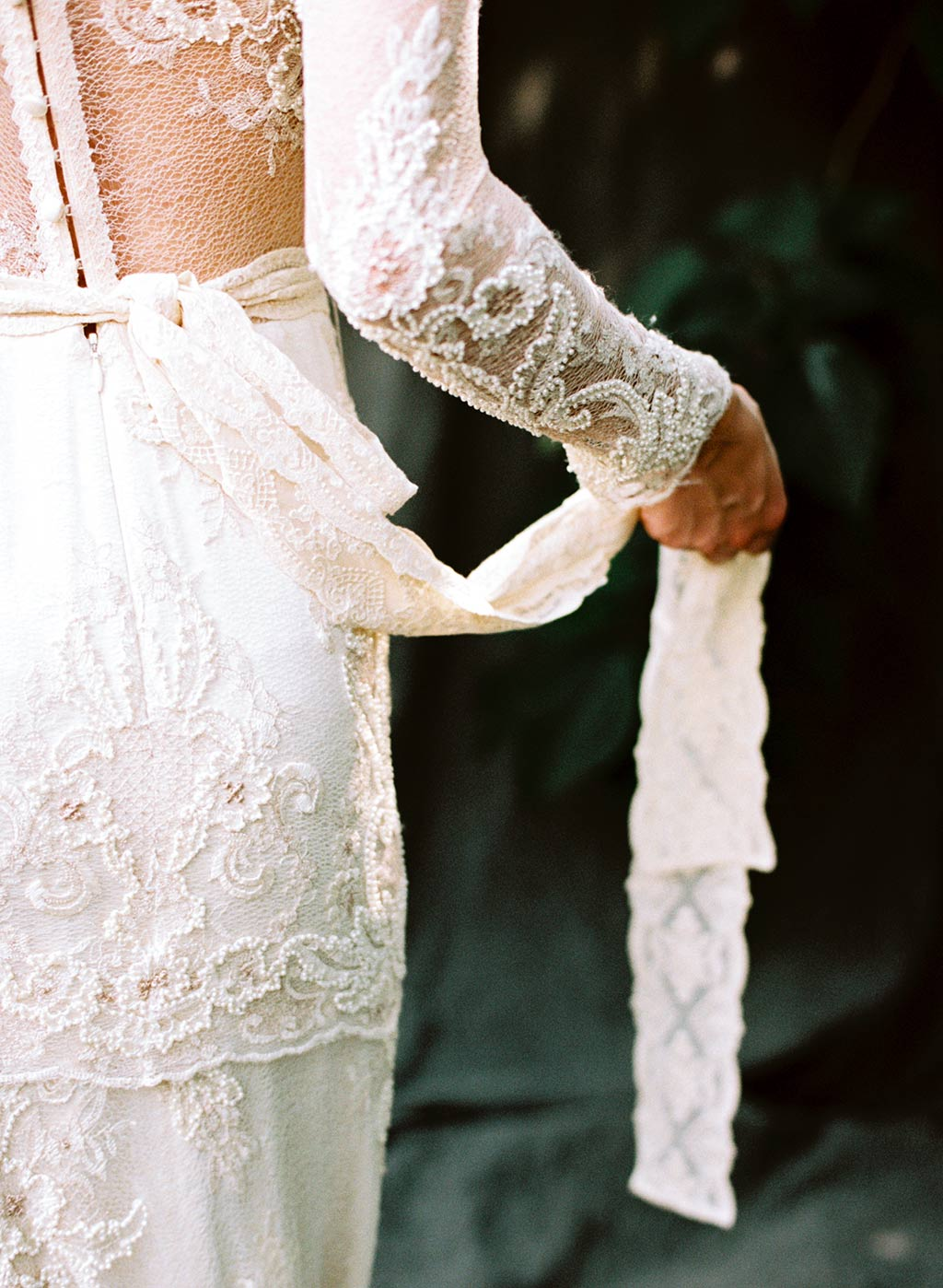 Beaded Lace Couture Wedding Dress