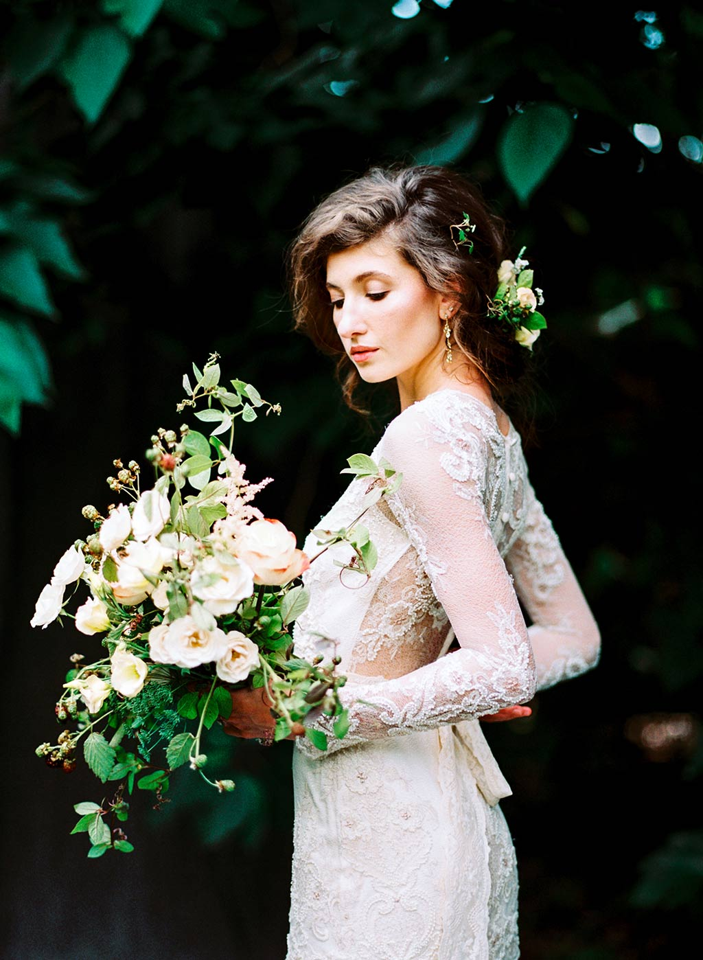 Bride with Wedding Flowers