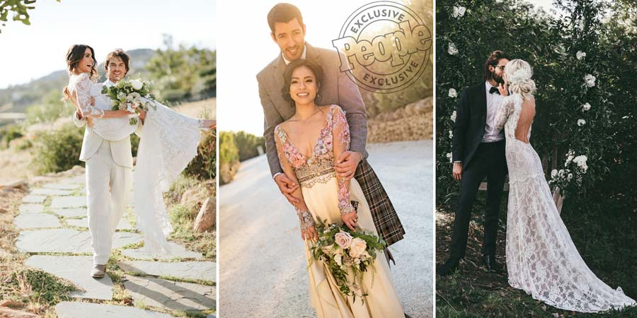 Real Brides in the Press|Nikki Reed | Linda and Drew Scott Property Brothers | Mary Madison Happily Grey