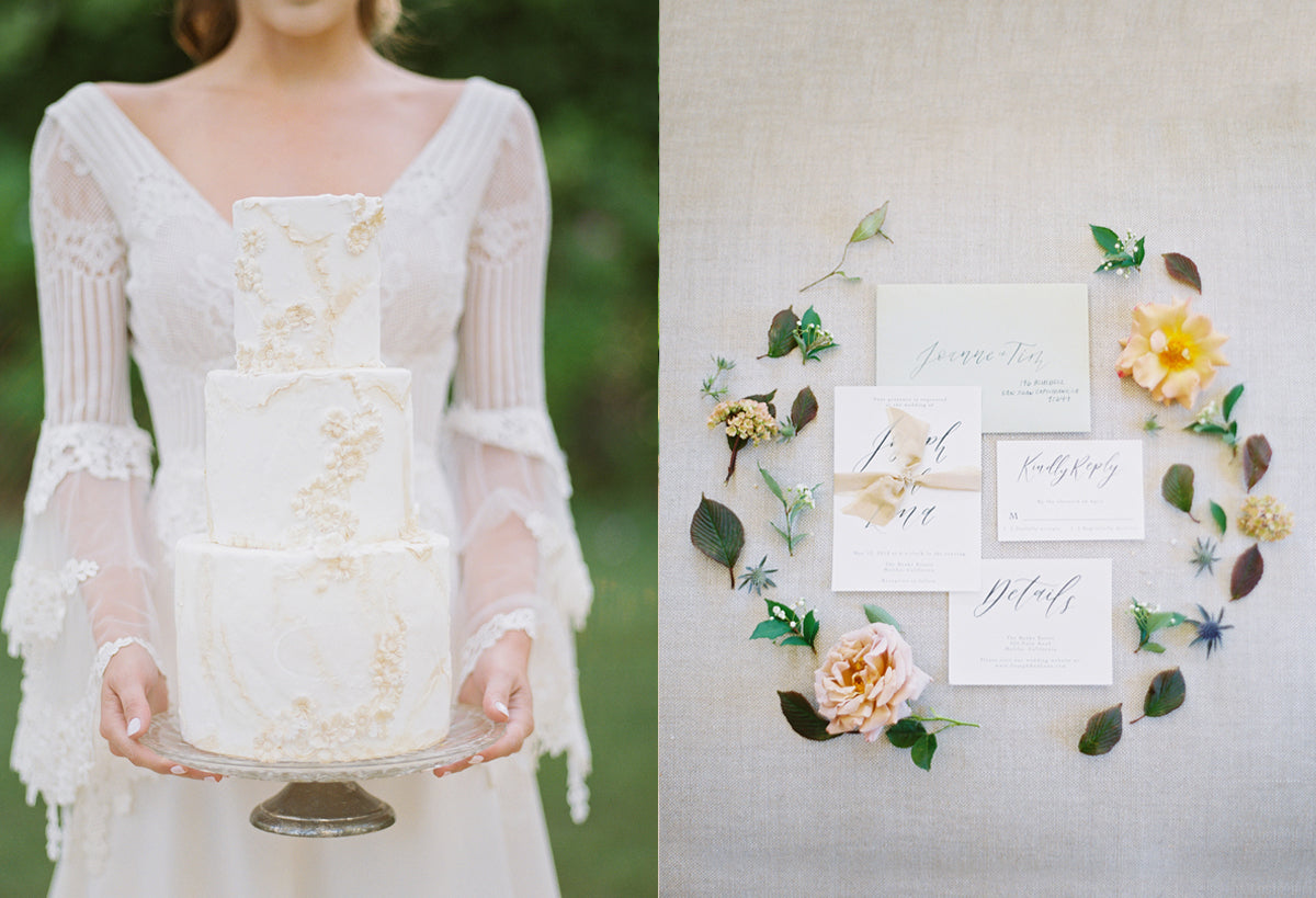 Wedding Design Details Cake and Invitations