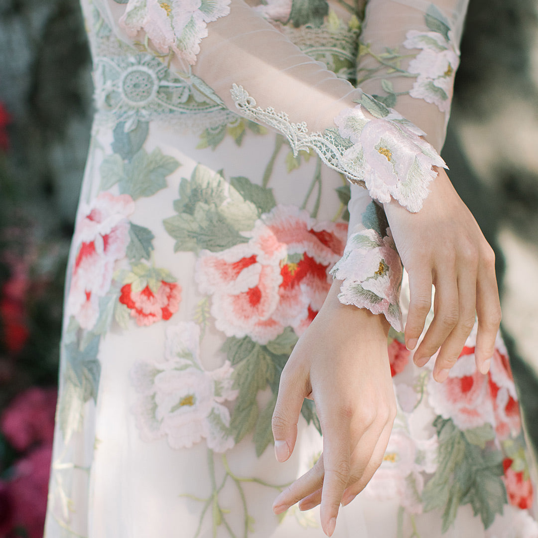 Flora Embroidered Wedding Dress by Claire Pettibone