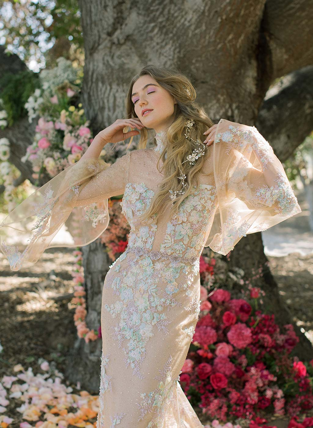 Venus Embroidered Wedding Dress  by Claire Pettibone
