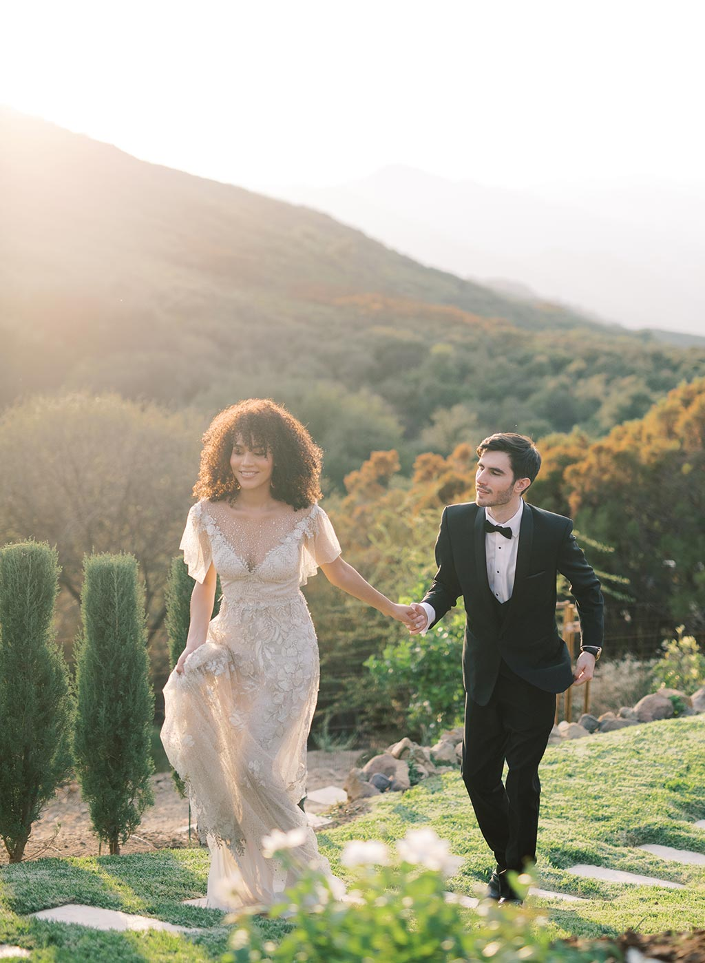 Claire Pettibone Soleil Wedding Dress in Malibu