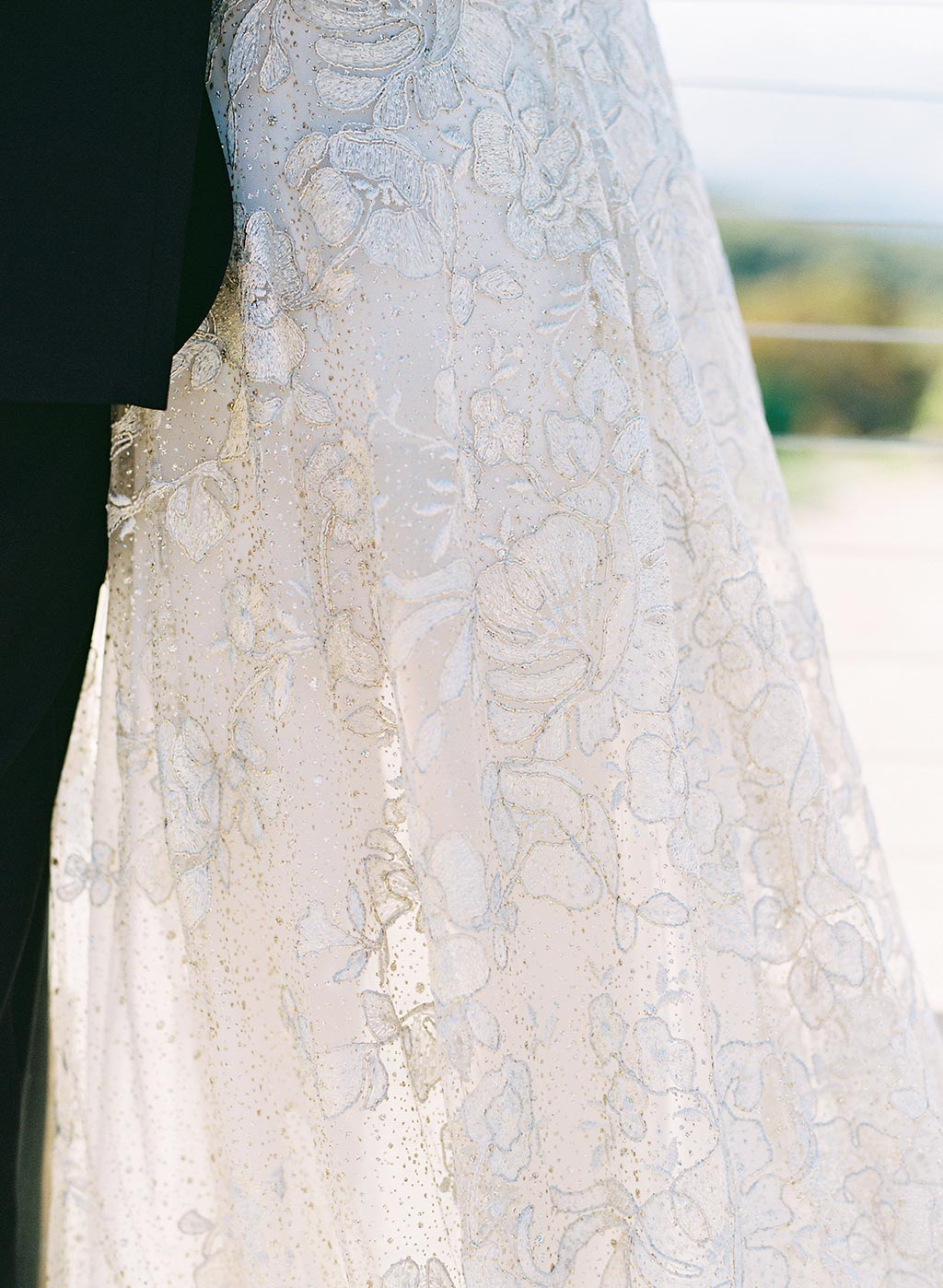 Soleil Shimmery Wedding Dress Lace Detail