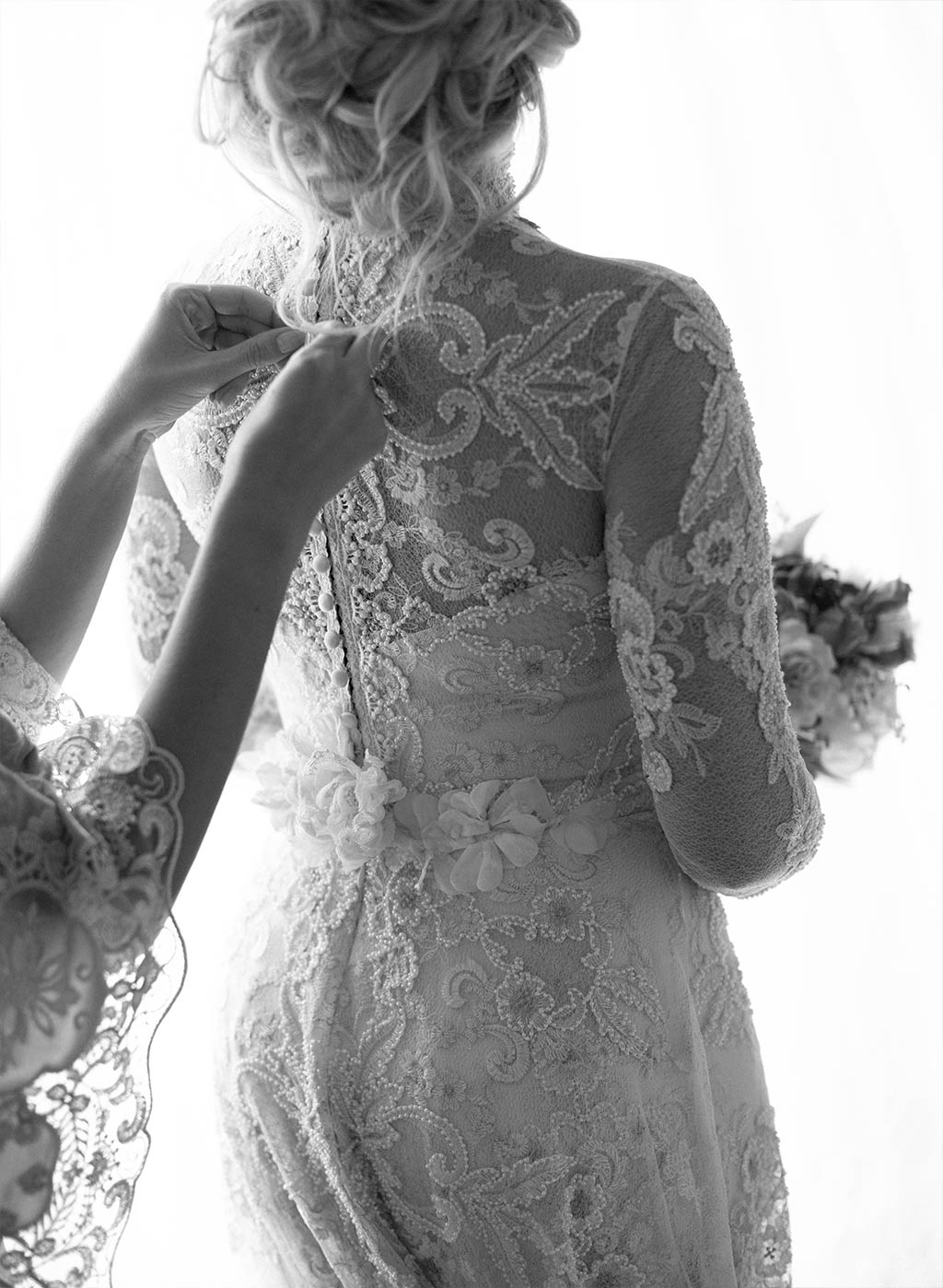 Lace Wedding Dress Detail Back