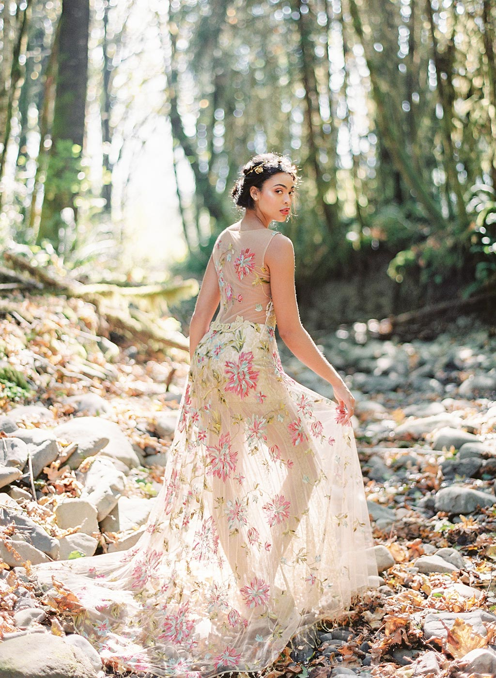 Colorful Couture Wedding Dress