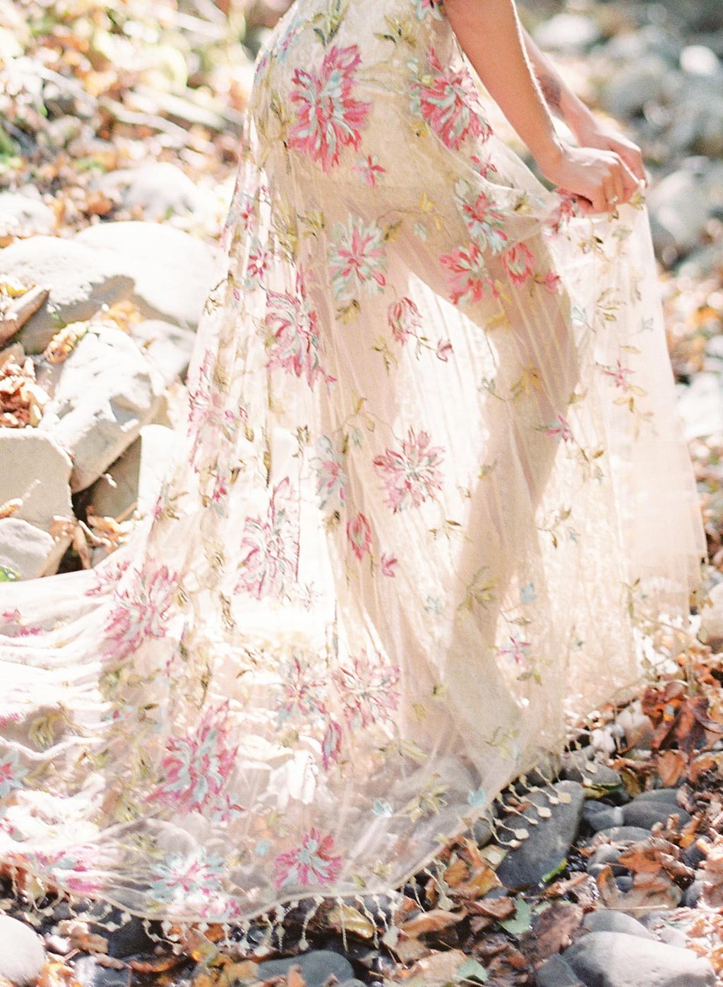 Multi Color Embroidered weddind Dress