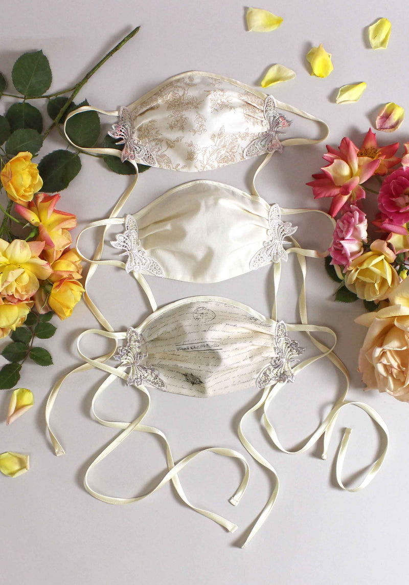 Butterfly Mask - Bride Set