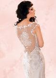 Orange Blossom - Wedding Dress by Claire Pettibone sheer back full