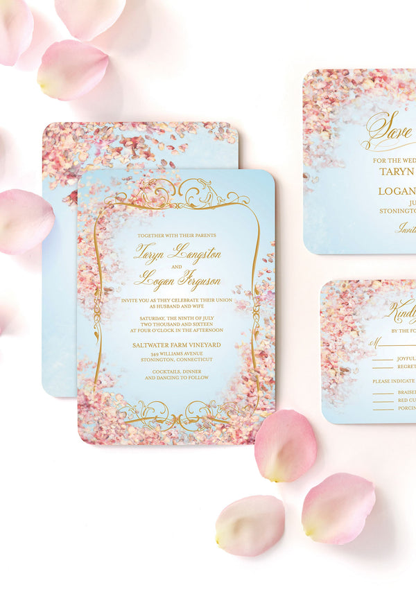 Perfect Paradise Wedding Invitation Suite